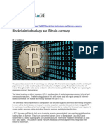 Blockchain Technology and Bitcoin Currency
