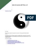 En Qué Consiste La Teoría Del Yin y El Yang