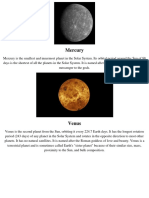 Solar System Planets Seatwork