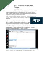 Crear La Imagen Forense Desde Una Unidad Utilizando FTK Imager