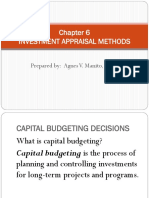 Chapter 6 Investment Appraisal Methods