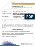 Meander Falls Toilets development application