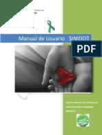 Manual Usuario Registro Nacional de Donacion de Organos