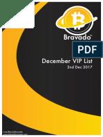 Bravado December VIP List