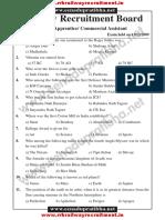 RRB TA CA Previous Exam Paper 2009
