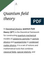 Quantum Field Theory - Wikipedia
