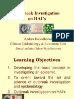 Outbreak Investigation on HAI's AD 2016-Bu Dewi