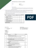 Contoh Format Penilaian Autentik Dan Alternatif