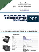 Spi-3. Narrowband Passive Gsm Interceptor of New Generation