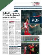 La Provincia Di Cremona 21-01-2018 - Grande Stadio