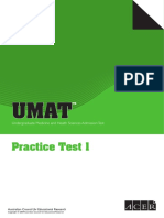 Umat Practice Test 1