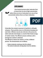 Diffusion of Solids in Liquids