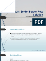 Gauss-Seidel Power Flow Solution