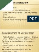 Unit II - Risk and Return Tradeoff