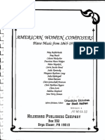 American Women Composers 1865-1915