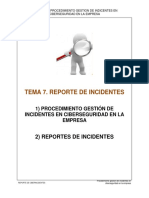 reporte de incidente