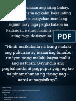 Filipino 10 aral sa isang teksto