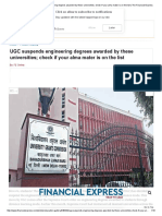 UGC Suspends Engineering Degrees, These Universities; Check.