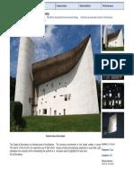 Case Study Notre Dame Ronchamp