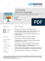 The Employee Experience Advantage (getAbstract)