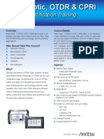 OTDR Certification Brochure - 11410-00820 Rev. B