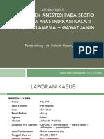 LAPSUS Management Anestesi Pada SC Ai Eklampsi