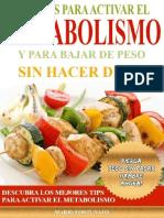 Recetas Para Activar El Metabolismo y Para Bajar de Peso Sin Hacer Dieta - Mario Fortunato