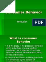 Consumer Behavior Introduction
