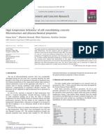 High Temperature Behaviour of Self-consolidating Concrete