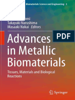 Advances in Metallic Biomaterials
