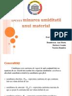 Determinarea Umiditatii Unui Material (1)