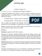 Physics Unit 1 Electricity Aqa