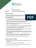 Administrative Assistant ROLE DESCRIPTION