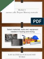 Module 1- prepare construction materials.pptx