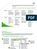 Vlookup Notes in Poster Form