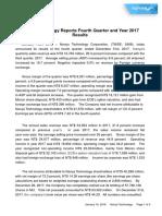 NTC 4Q17 Earnings Report