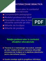 4. Stiluri de Interactiune Didactica