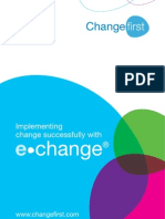 Implementing change successfully with e-change