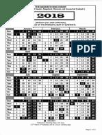 Gauhati High Court Calendar,2018