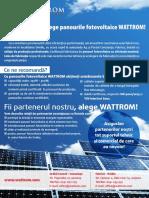 WATTROM Prezentare Panouri Fotovoltaice