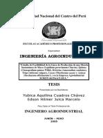 ESTUDIO DE FACTIBILIDAD PARA LA INSTALACIÓN DE UNA PLANTA DE MACA