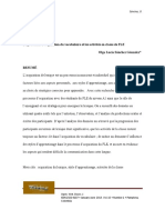 Le Processus d'Acquisition Du Vocabulaire Et Les Activités en Classe de FLE