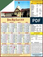 Patna High Court Calendar,2018