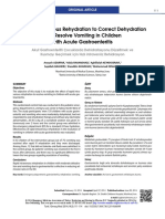 Rapid Intravenous Rehydration to Correct Dehydration and Resolve Vomitting in Children With Acute GEA