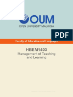 HBEM1403 Management of Teaching and Learning