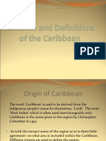 Definitions of the Caribbean Region