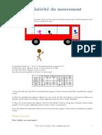 ILEPHYSIQUE Phys 2 Relativite Du Mouvement
