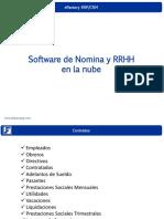 Presentación de eFactory Software de Nomina y RRHH en La Nube