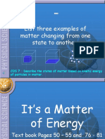 Matter and Phase Changes