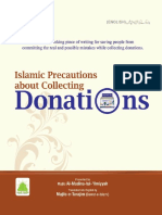 Islamic and Organizational Precautions About Collecting Donations